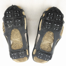 1 Pair Unisex 24 Teeth Ice Gripper Anti-Skid Snow Climbing Shoe Spikes Grips Crampons Cleats Overshoes Spike Shoes