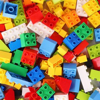 60 ~ 420 sztuk Big Size cegły kolorowe luzem cegły płyty bazowe DIY klocki kompatybilne zabawki z klocków dla dzieci tanie i dobre opinie 4-6y 7-12y 12 + y CN (pochodzenie) Kompatybilne z lego Duplo Unisex Mały klocek do budowania (kompatybilny z Lego) Z tworzywa sztucznego