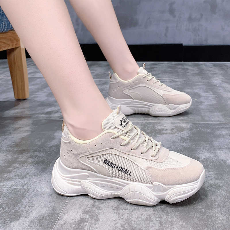 Nowych kobiet modne buty zimowe kobiet koreański dzikie trampki oddychające kobiety Lace-up Mesh buty sportowe damskie buty w stylu casual