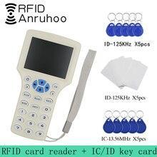 Считыватель карт доступа RFID с 10 ИС/ID частотой, считыватель карт с NFC, записывающее устройство для шифрования, Дубликатор чипов UID, копироваль...