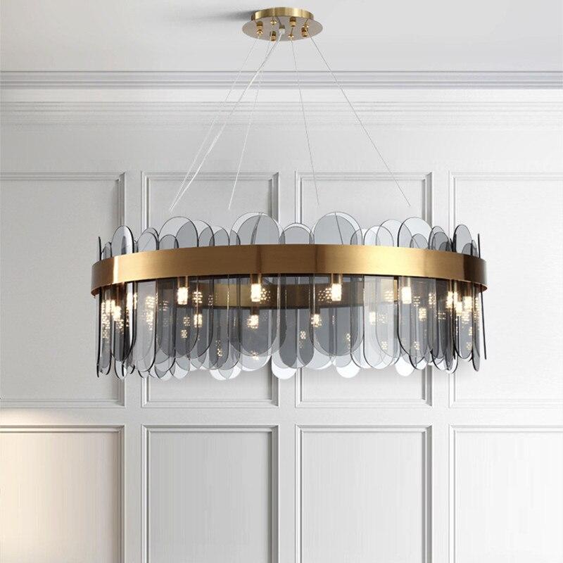 Хрустальная люстра для спальни в скандинавском стиле, креативный дизайн, художественная палитра, Ресторан, Бар, светильник, светильник|Подвесные светильники|   | АлиЭкспресс