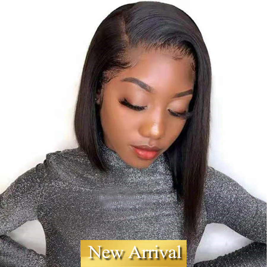Short Human Hair Wigs Straight Brazilian Hair Lace Front Wig Pixie Cut Wig Human Hair Pre Plucked Non-Remy Dorisy Hair Wigs
