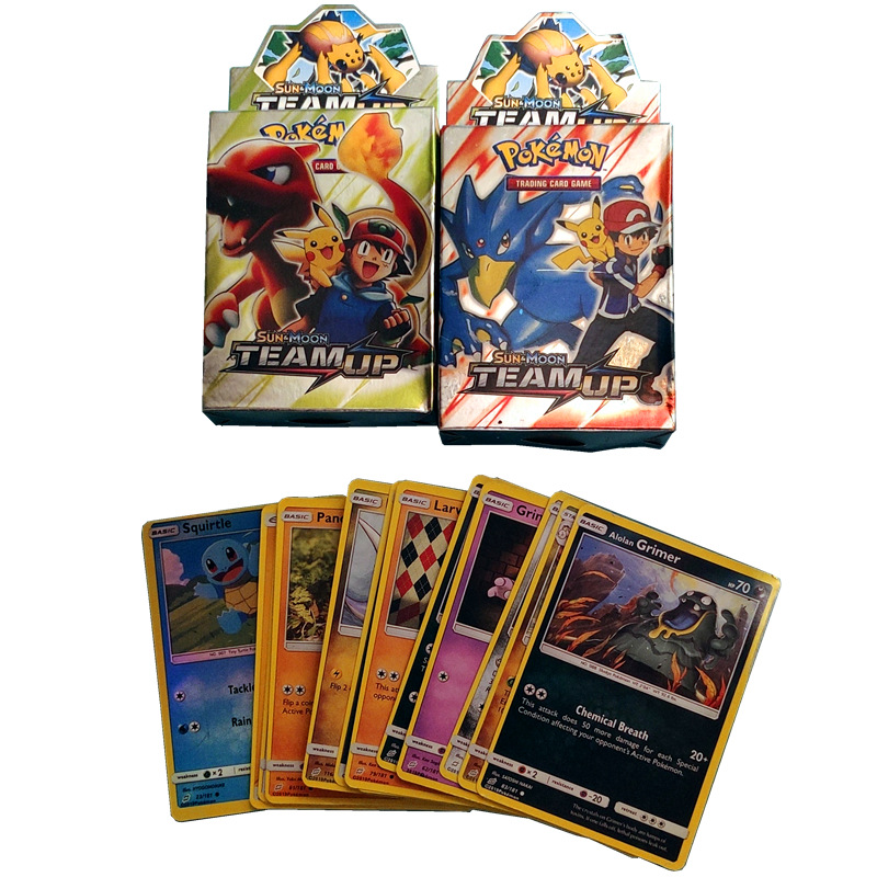 25Pcs/lot With 1Pcs Shining Cards Game Battle Carte Trading Cards Game Children Pokemons Card Toy