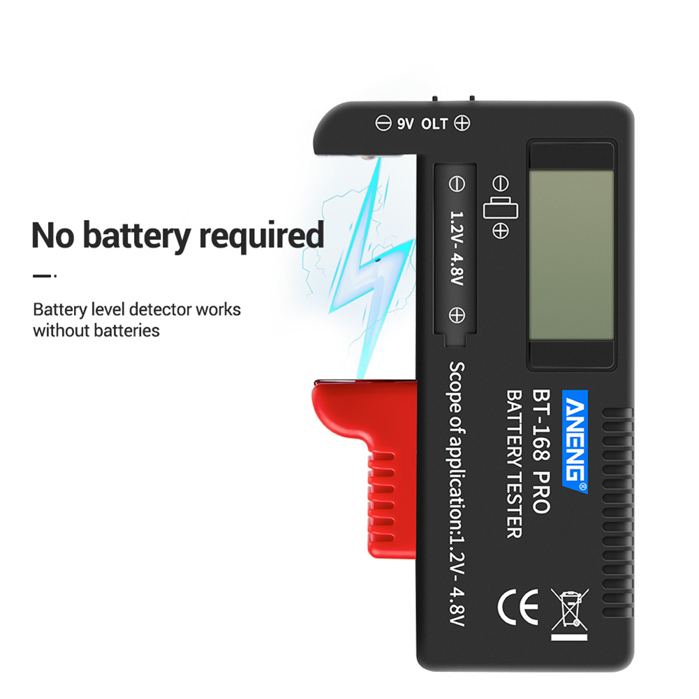 2019 New Style Aneng Digital Battery Tester Bt-168 Pro 1.2v-4.8v Aaa Aa Button Cell Checker For Household Battery Testing Decoration Distinctive For Its Traditional Properties