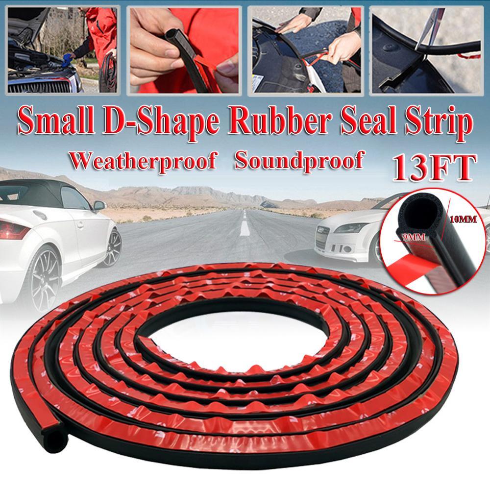 4M Big D shape Car Door Rubber Weather Seal Hollow Strip Weatherstrip 13FT