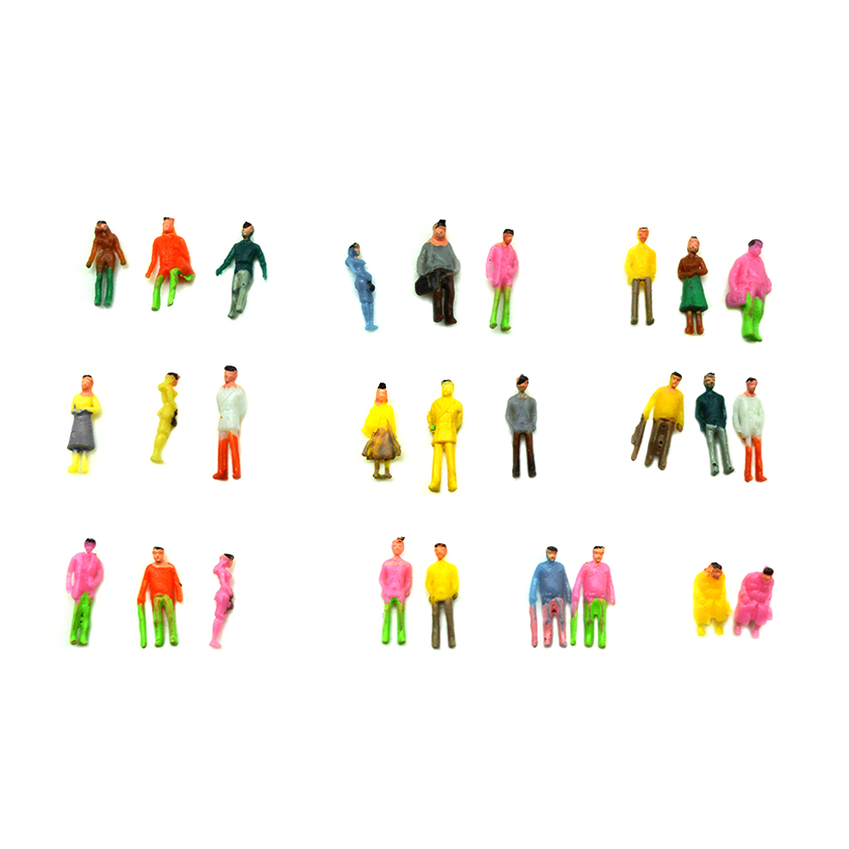 1 100 200scael model color modern figure people 100pcs miniature color people for diorama tiny modern buildings scenery making in Model Building Kits from Toys Hobbies