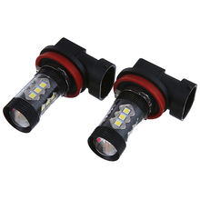 2X H8 H11 3030 6500 к 80 Вт 16LED головной светильник дневного светильник Противотуманные фары дальнего света