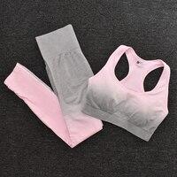 BraPantsPink - Women's Sportwear Seamless Fitness Gradient Yoga Set