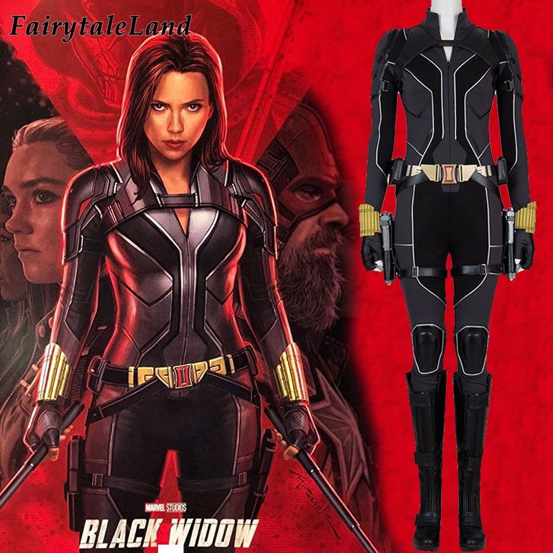 2020 Movie Black Widow Cosplay Costume Carnival Halloween Outfit Cosplay Natasha Romanoff Jumpsuit Fancy Accessories Boots