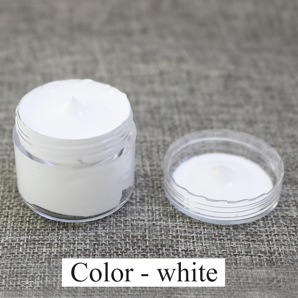 White Leather Coloring Paint 30ml for Leather Sofa Bag Car Seat Clothe Shoe Leather Dye Repair Restoration Color Change Paint