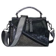 Блестящие стразы сумки для женщин высокое качество кожа бриллианты