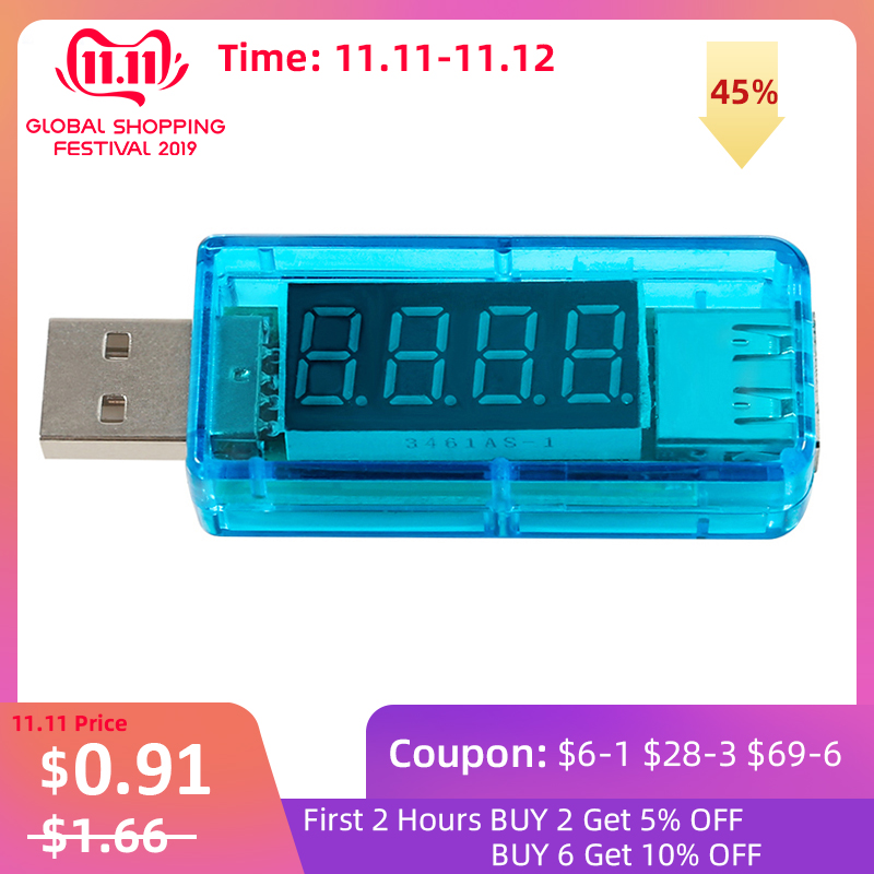 Voltmeter Smart Electronics Digital Mobile Power Charging Current USB Voltage Tester Meter USB Charger Doctor Voltmeter Ammeter