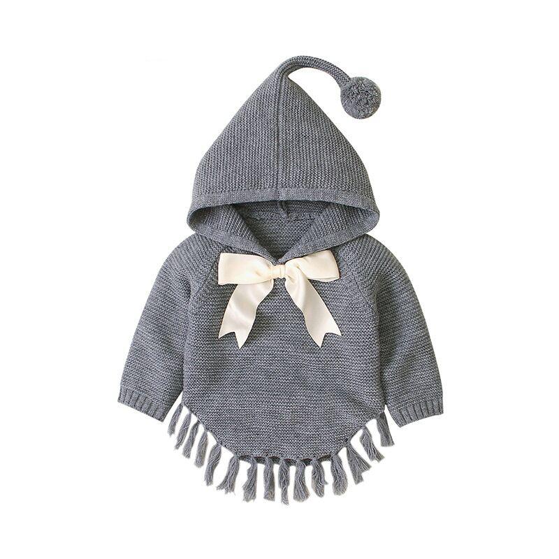 Baby Boy Clothes Winter Toddler Baby Sweaters Kids Boys Girls Sweatshirt Hoodie Cloak Knit  Sweater  For Newborn 1 2 3 Age 4