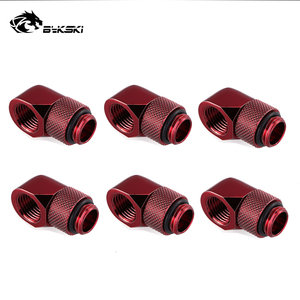 Image 3 - 6pcs/lot G1/4 90 Rotary Compression fitting 90 degree Rotary Fitting water cooling Adaptors Metal Connector