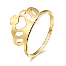 Женское кольцо из нержавеющей стали с короной в форме сердца, рождественские кольца для пар, аксессуары Anillos Mujer Bague Femme, ювелирные изделия W3
