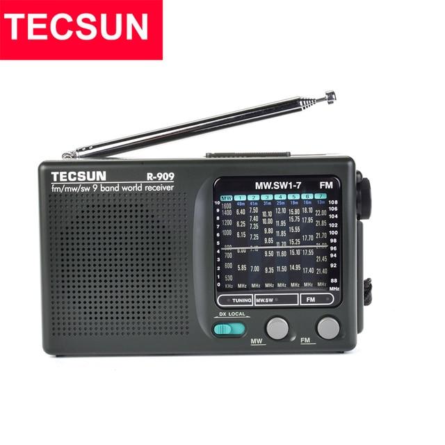 TECSUN R 909 AM/FM/SW רדיו 1 7 9 להקות העולם בנד מקלט נייד רדיו FM: 87.0 108MHz/ŸMW: 525 1610 kHz רטרו כיס רדיו