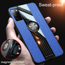 Magnetic Shockproof Case for Huawei Honor V30 V 30 Pro Phone Back Cover Leather Cloth Stand Funda Armor HonorV30 View 30Pro 2019(China)