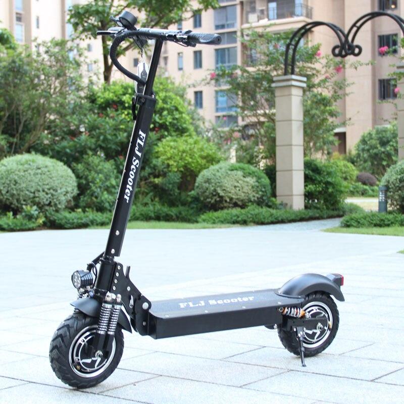 FLJ EU stock Scooter électrique avec moteurs 52 V/2400 W puissant Scooter électrique pliable Scooter adulte