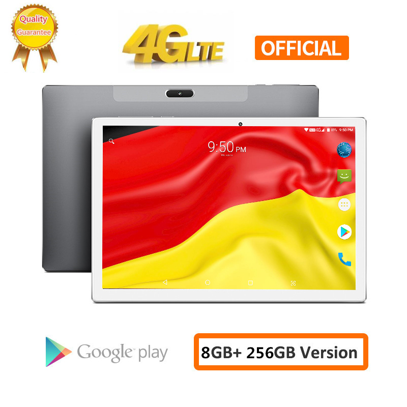 2020 10.1 Inch 1920*1200 8GB RAM 256GB ROM Android 8.0 Tablet PC MTK6797 X20L Deca 10 Core Dual 4G LTE Phone Tablets 8000mAh GPS