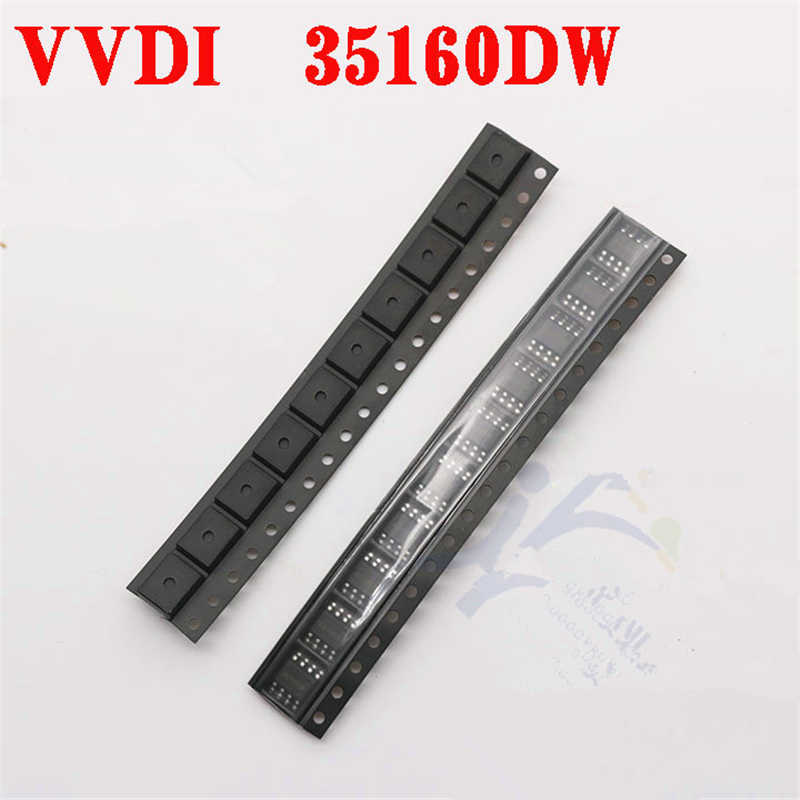 5pcs lot VVDI 35160 35160DW IC Chip Reject Red Dot No Need Simulator Replace M35160WT Adapter for VVDI Key Programmer