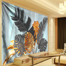 Banana Leaf Tapestry Wall Hanging Mandala Peacock Feather Bohemian Carpet Boho Plant Decorative for Home