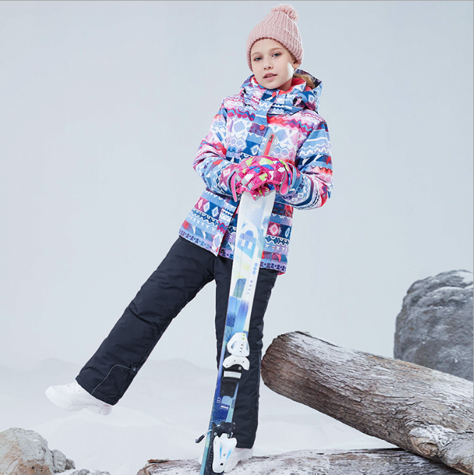 Free Shipping 2019 Kids Ski Suit Kids Brands Waterproof Girls Snow Set Pants Winter Skiing And Snowboarding Jacket Child