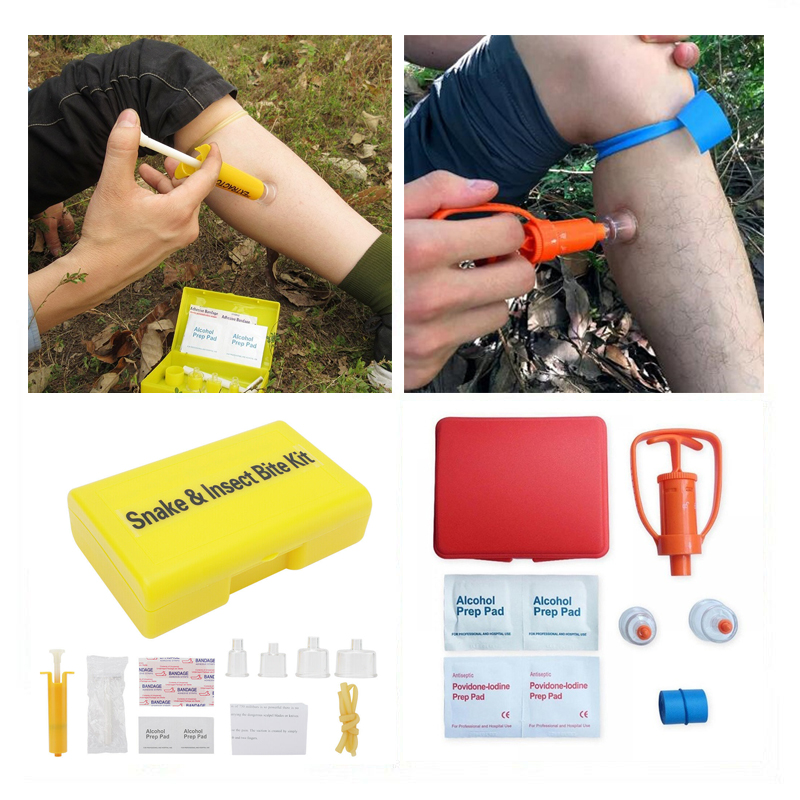 Outdoor Venom Extractor Survival Rescue Emergency Safety Tool First Aid Kit Wild Vipers Bees Biting Venom Vacuum Extractor Pump