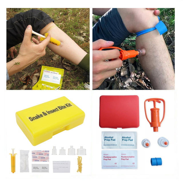 Outdoor Survival Rescue Emergency Safety Tool Venom Extractor FirstAid Tools