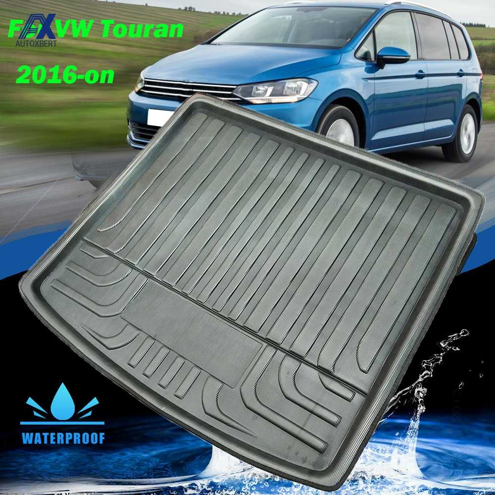 Tailored Black Rubber Bootmat Volkswagen Touran 2010-2015