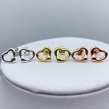 Женские серьги из серебра 925 пробы с открытым сердцем