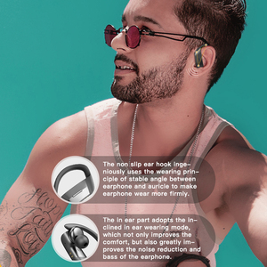 Image 5 - Earhook headphones bluetooth earphones 5.0 Wireless Earphone TWS Earbuds 9D Gaming Sport LED Headset беспроводные наушники