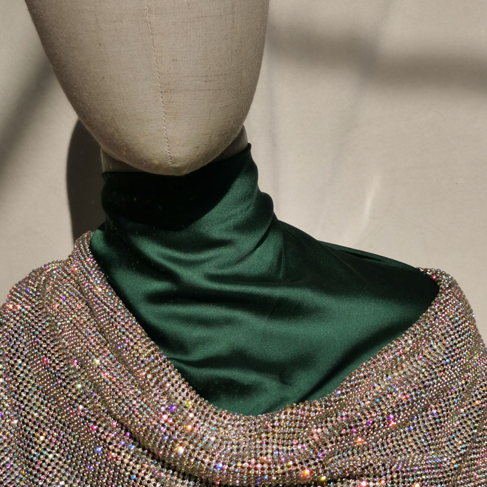 Good Quality Metal Mesh Fabric Aluminum Crystal AB Rhinestones Golden Silver Trim Glass Applique Clothes Bag Crafts Customized