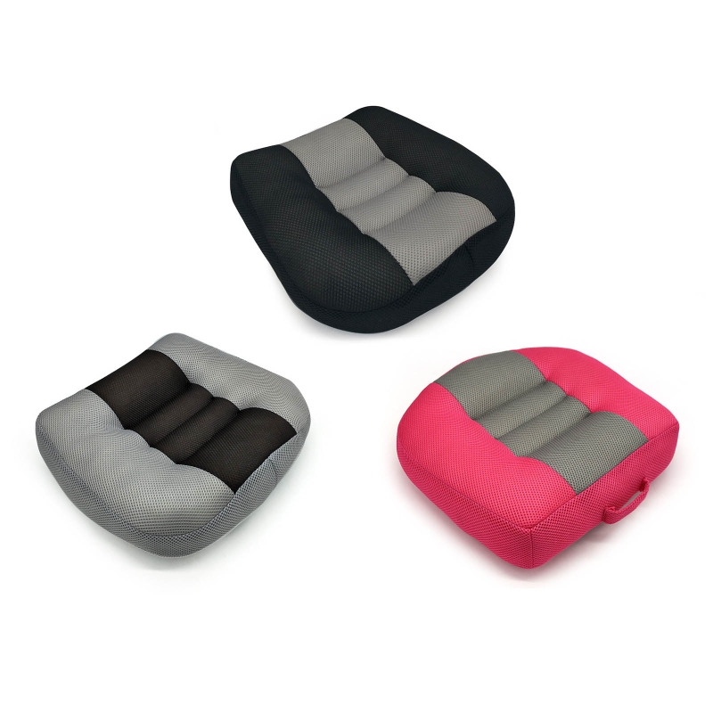 Portable Car Booster Seat Cushion Thickened Non-slip Heightening Height Boost Mat Breathable Mesh Lift Seat Pad Interior