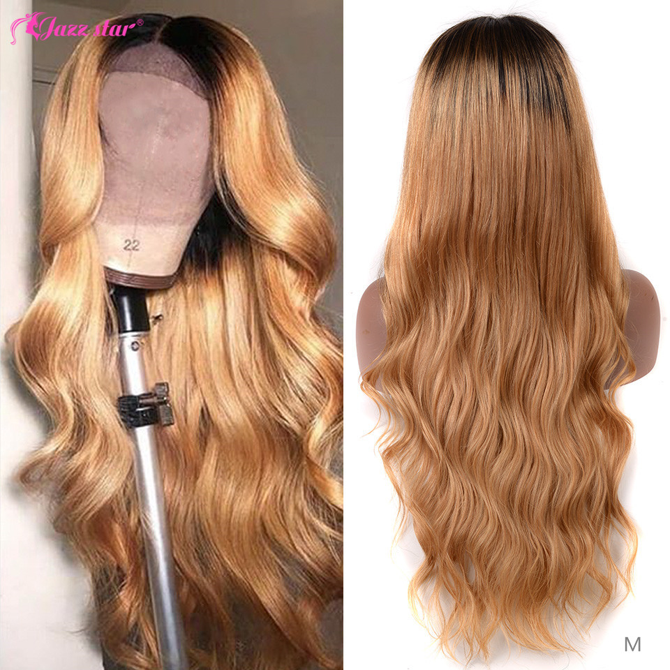 Brazilian Body Wave 13x4 Honey Blonde Lace Front Wigs 1B/27 Lace Front Human Hair Wigs Non-Remy Jazz Star Ombre Human Hair Wig