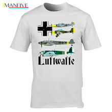 Newest 2019 T Shirt Men Tshirt WW2 aircraft T-shirt Messerschmitt Bf 109 Stuka Heinkel He 111