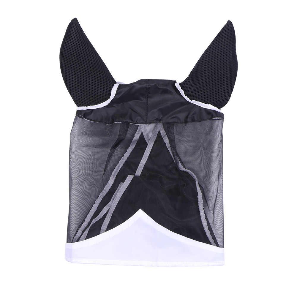 Cavalo malha máscara destacável uv-proteção anti-mosquito cavalo mosca máscara equipamento de equitação para cavalo máscaras de cobertura facial completa