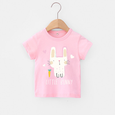 VIDMID Baby girls t-shirt Summer Clothes Casual Cartoon cotton tops tees kids Girls Clothing Short Sleeve t-shirt 4018 06 3