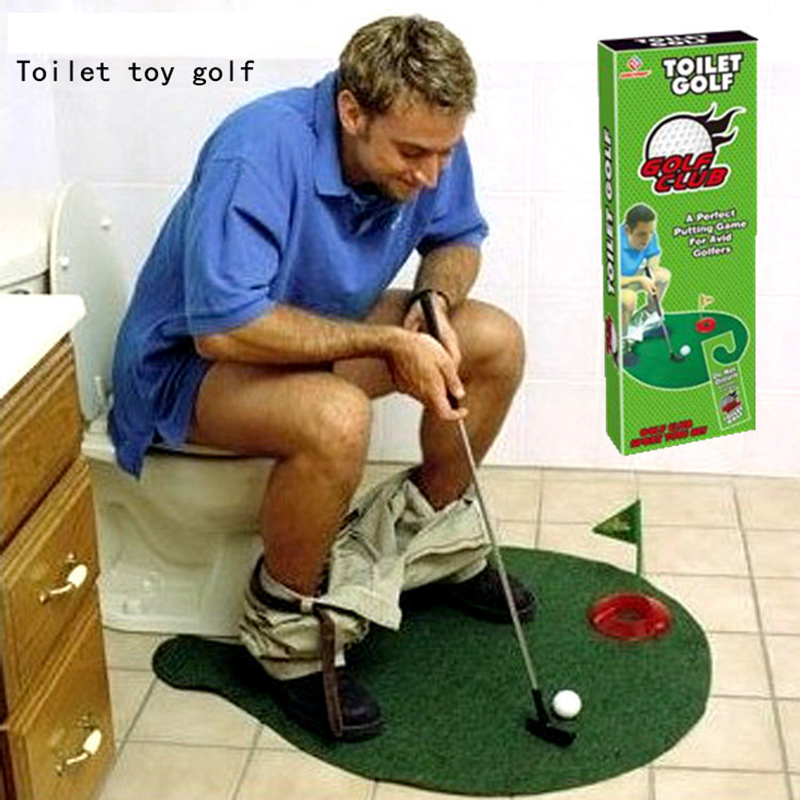 New And Strange Children's Sports Fitness Toilet Golf Course Mini Pusher Exerciser Toy