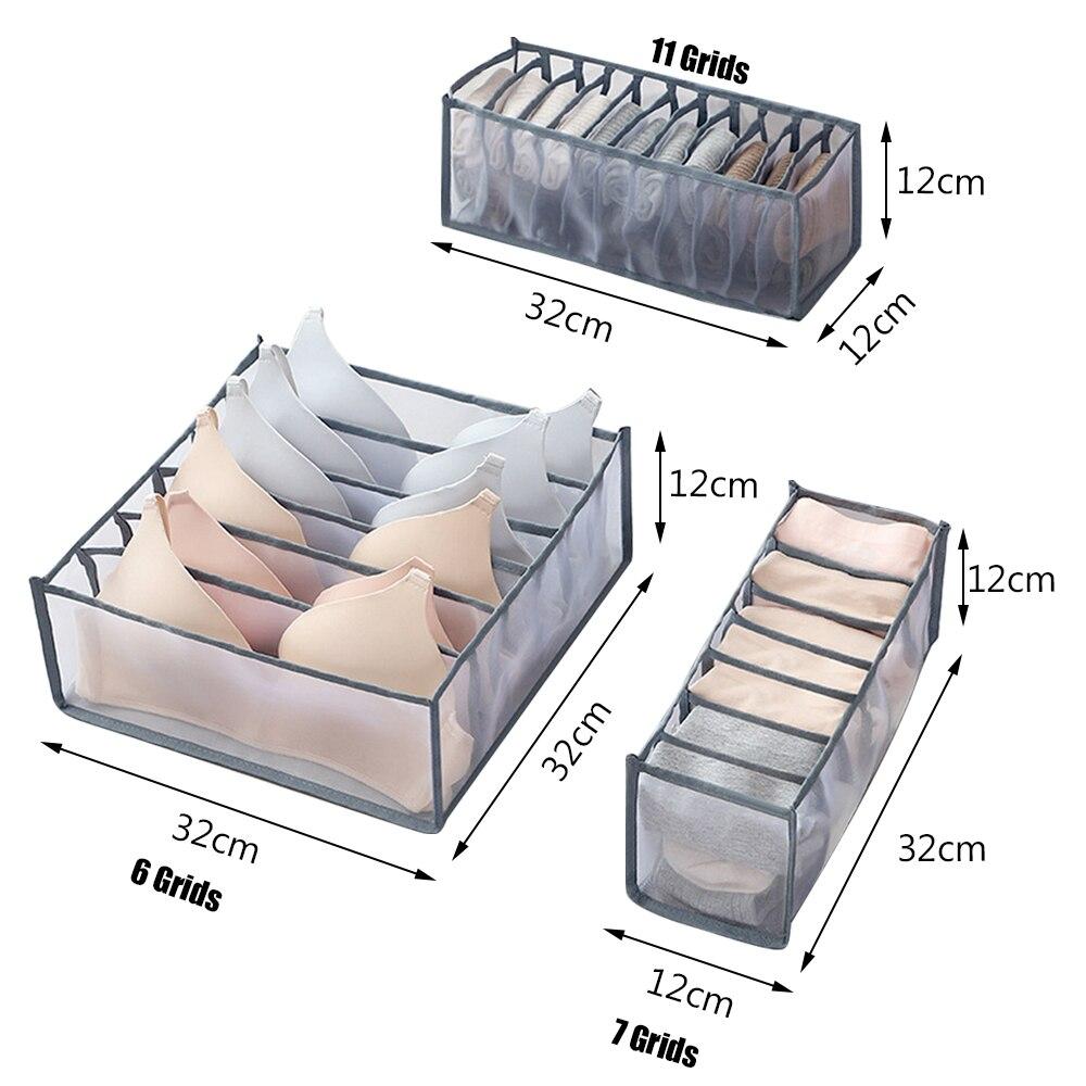 Dormitory Closet Organizer For Socks Home Separated Underwear Storage Box