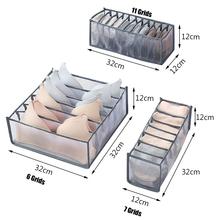 7 Grids Organizer biustonoszy dormitorium szafa Organizer do skarpet strona główna oddzielny pojemnik do przechowywania bielizny składany Organizer szuflady tanie tanio CN (pochodzenie) NYLON 32 x 32 x 10cm