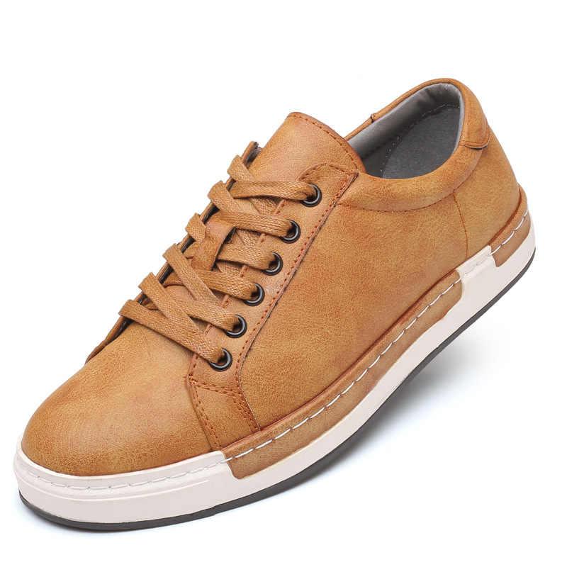Sıcak satış rahat erkek rahat ayakkabılar açık kaymaz nefes ayakkabı erkekler moda inek süet hakiki deri sneakers Trend