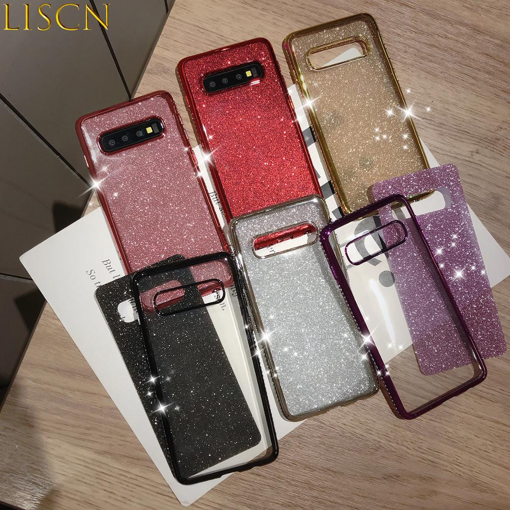 LISCN Shiny Rhinestone Plated Phone Cases for iPhone 6 7 8 6S 6P 7P 8P X XR XsMax Soft iPhone 6 Case in Half wrapped Cases from Cellphones Telecommunications