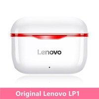 Auricolari Lenovo LP1 TWS Bluetooth 5.0 cuffie Wireless reali Touch Control cuffie sportive IPX4 auricolari resistenti al sudore con microfono