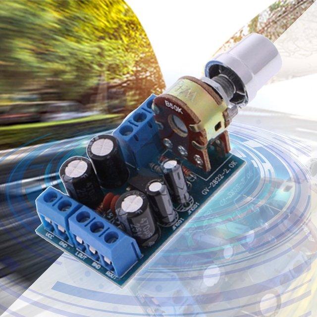 حجم صغير تيار مستمر 1.8-12 فولت TDA2822M 2.0 قناة ستيريو صغيرة AUX مضخم الصوت لوحة تركيبية أمبير وحدة أجزاء 2