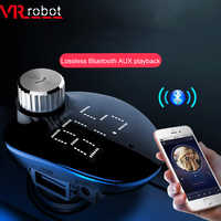 VR robot 2019 New FM Transimtter Modulator Bluetooth Handsfree Car Kit Aux Car Audio MP3 Player 5V 3.4A USB Charger