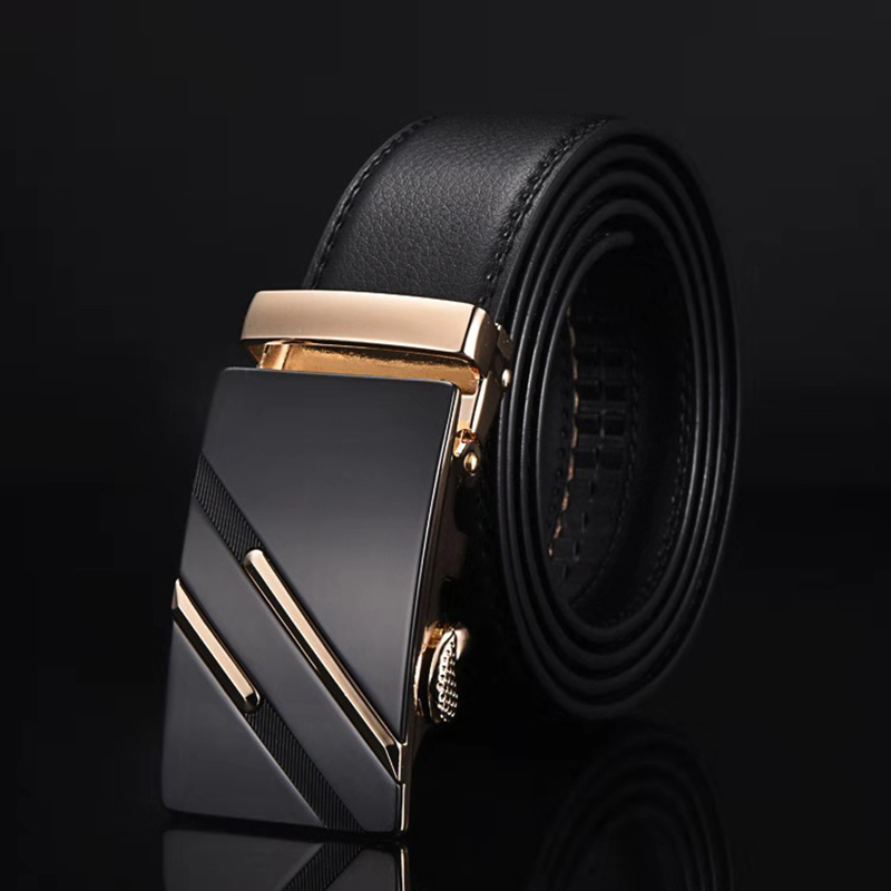 New Famous Brand Belt Men Top Quality Genuine Luxury Leather Belts For Men,Strap Male Metal Automatic Buckle