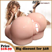 Silicone Ass 3D Realistic Vagina Anal Double Channels Fake Tight Pussy Sex Toys for Men Male Masturbator Sex Doll Sex Product