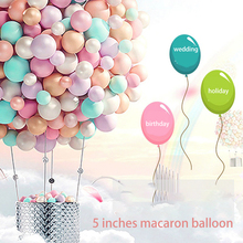 200PC Round Candy Color Macaron Balloons 200 Pink 5 Inch Wedding Room Layout Supplies