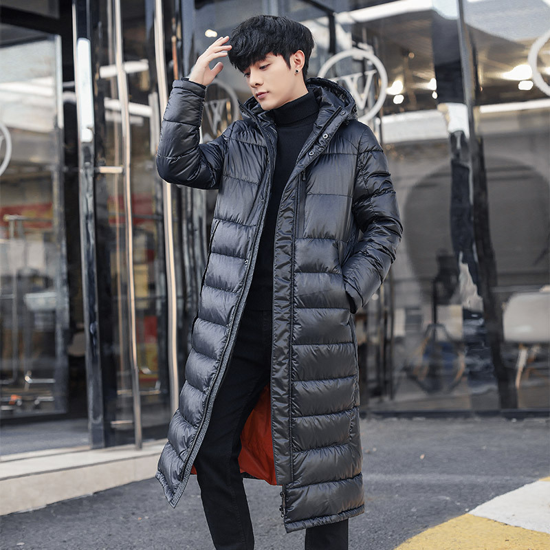 Men's Winter Down Jacket Hooded Thick Long Coat 90% White Goose Down Jacket Korean Parka Doudoune Homme 1806 KJ3096