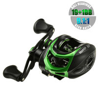 19+1BB Baitcasting Reel Super Light 7.1oz/203g 9.1:1 High Speed Freshwater/SaltWater 17.6lb Drag Power Lure Fishing Reel Pesca